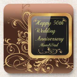 Happy 50th Wedding Anniversary Multi products sele Beverage Coasters