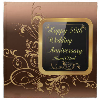 Happy 50th Wedding Anniversary Multi products sele Cloth Napkin
