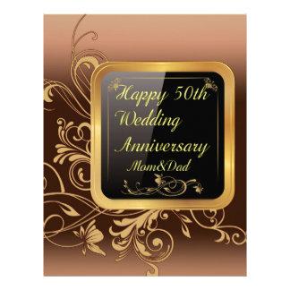 Happy 50th Wedding Anniversary Multi products sele Letterhead Design