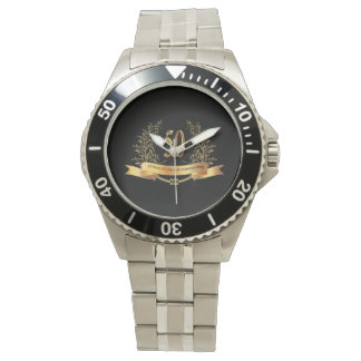 Happy 50thWedding Aniversary Stainless Steel Watch