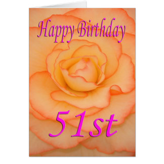 Happy 51st Birthday Flower Card