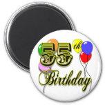 Happy 55th Birthday Celebration Magnets