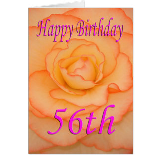 Happy 56th Birthday Flower Card