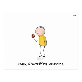 """Happy 57something something"" - Rosh Hashanah Postcard"