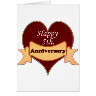 Happy 5th. Anniversary Card