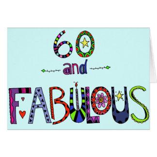 Happy 60th Birthday - Birthday Balloons Card