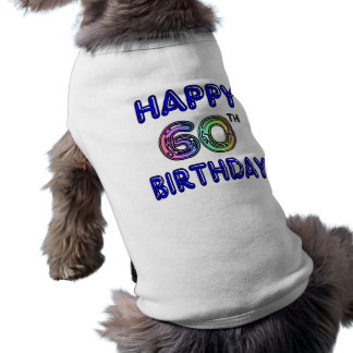 Happy 60th Birthday Gifts in Balloon Font Shirt