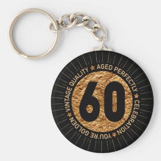 HAPPY 60TH BIRTHDAY KEYCHAIN