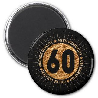 HAPPY 60TH BIRTHDAY MAGNET
