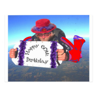 Happy 60th Birthday Postcard