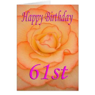 Happy 61st Birthday Flower Card