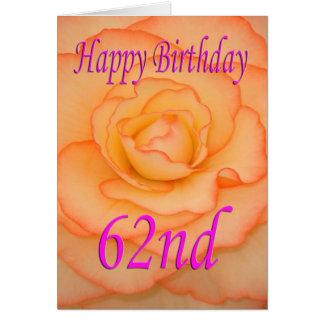 Happy 62nd Birthday Flower Card