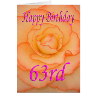 Happy 63rd Birthday Flower Card