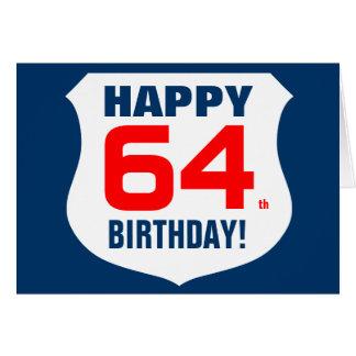 Happy 64th Birthday card for men
