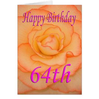 Happy 64th Birthday Flower Card