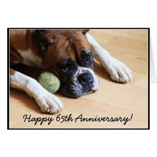 Happy th anniversary boxer dog greeting card zazzle