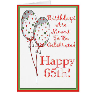Happy 65th birthday card