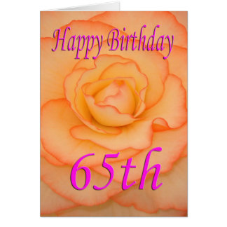 Happy 65th Birthday Flower Card