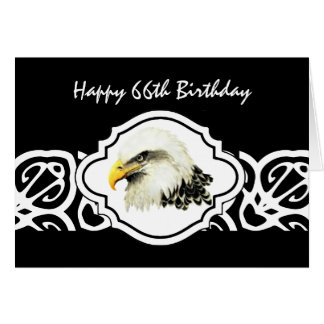 Happy 66th  Birthday Tough Old Bird  Bald Eagle Card