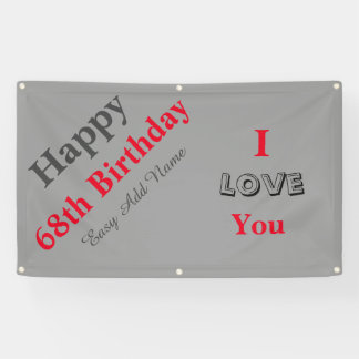 Happy 68th Birthday On Sale Banner