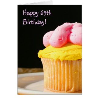 Happy 69th Birthday Muffin greeting card