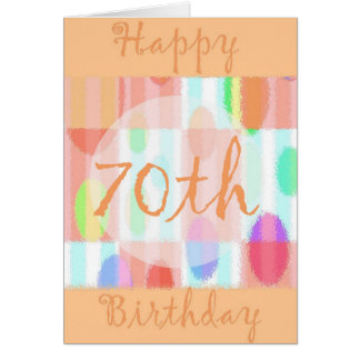 Happy 70th Birthday Card