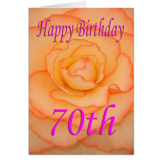 Happy 70th Birthday Flower Card
