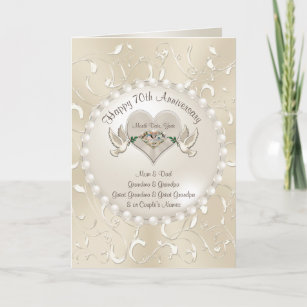 Happy 70th Wedding Anniversary Cards for Parents