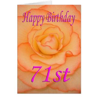 Happy 71st Birthday Flower Card