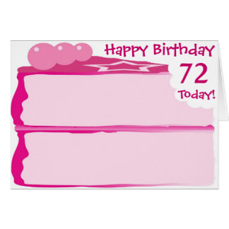 Happy 72nd Birthday Card