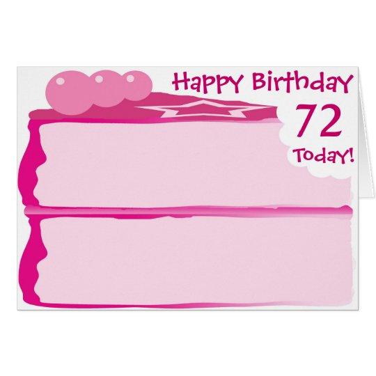 Happy 72nd Birthday Card