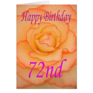 Happy 72nd Birthday Flower Card