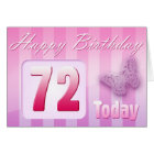 Happy 72nd Birthday Grand Mother Great-Aunt Mom Card