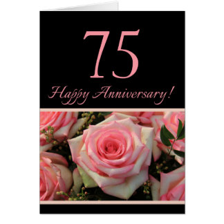 Happy 75th Anniversary roses Card
