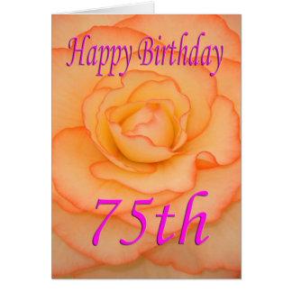 Happy 75th Birthday Flower Card