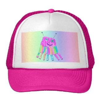 Happy 7 Legs Purple Rainbow Monster Hat