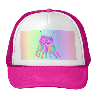 Happy 7 Legs Purple Rainbow Monster Trucker Hat