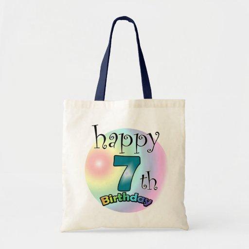 Happy 7th Birthday Canvas Bags