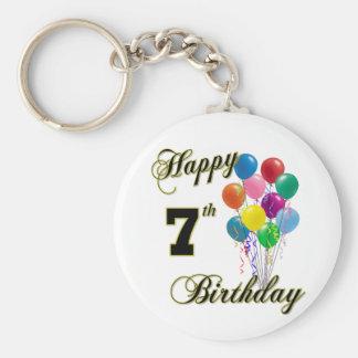 Happy 7th Birthday Key Chain and Birthday Apparel