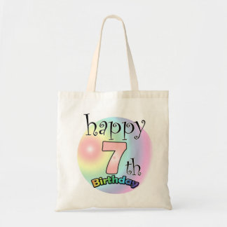 Happy 7th Birthday (pink) Canvas Bag
