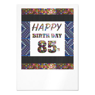 Happy 85th Birthday Template DIY add TEXT QUOTE 85 Magnetic Invitations