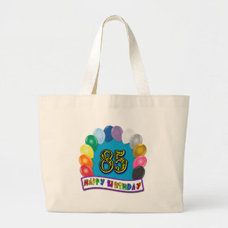 Happy 85th Birthday with Balloons Tote Bag