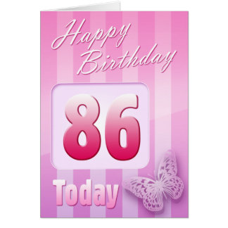 Happy 86th Birthday Grand Mother Great-Aunt Mum Greeting Card