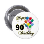 Happy 90th Birthday Gifts and Birthday Apparel 2 Inch Round Button