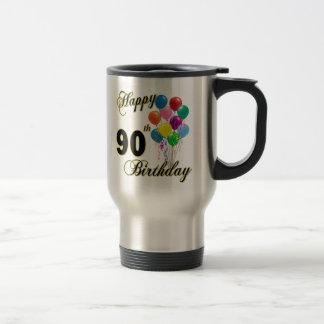 Happy 90th Birthday Gifts and Birthday Apparel Travel Mug