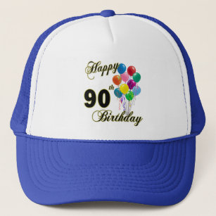 90th Birthday Party Hats Caps