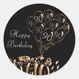 Happy 90th Birthday Round Sticker