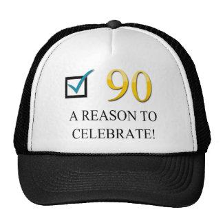 Happy 90th Birthday Trucker Hat