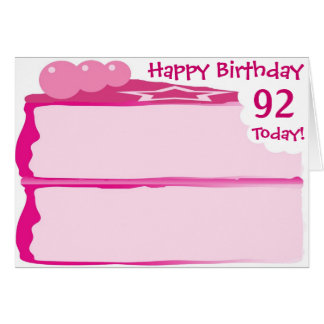 Happy 92nd Birthday Card