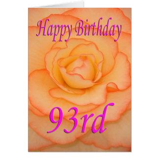 Happy 93rd Birthday Flower Card
